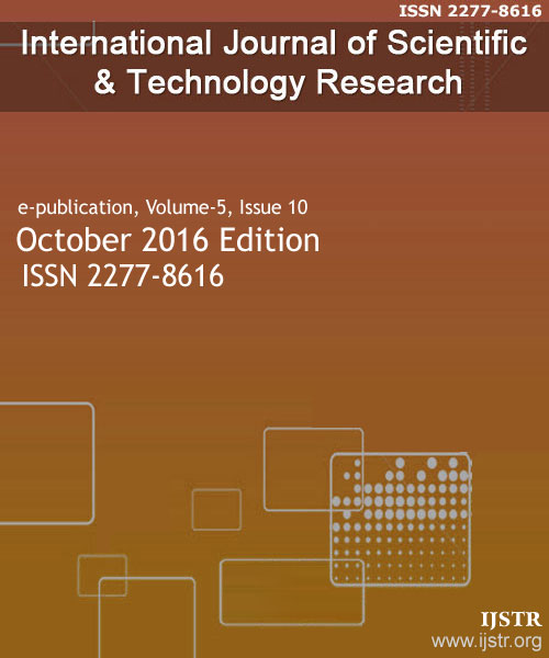 IJSTR - October 2016 - Volume 5 Issue 10