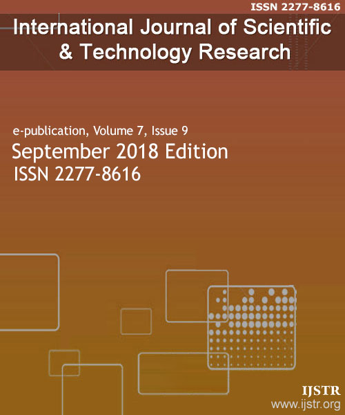 IJSTR - September 2018 - Volume 7 Issue 9